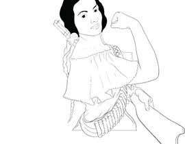 #43 para Logo Illustration Women in Dress Flexing muscle holding rifle de Anandhu650