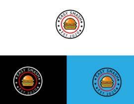 #70 untuk DIner Style logo for a hamburger press oleh shazzadhassan41