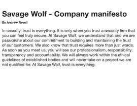 andrewjrevell tarafından Write emotive company manifesto için no 24