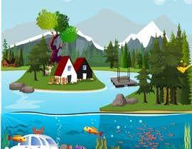 #27 para Background for mystical lake serpent de byteAbug