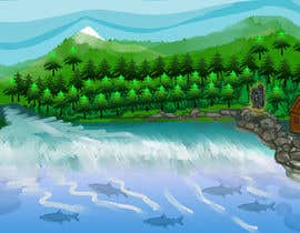 #43 para Background for mystical lake serpent de elenaodbitola9