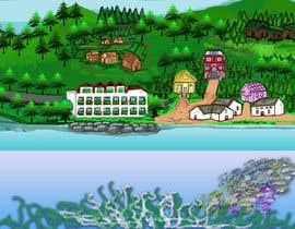 #60 para Background for mystical lake serpent de elenaodbitola9