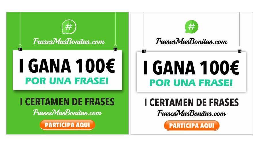 """Participación en el concurso Nro.                                        1                                      para                                         Banner publicitario para certamen de frases """"FrasesMasBonitas.com"""""""