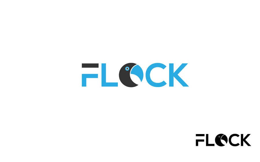 "Конкурсная заявка №                                        87                                      для                                         Logo for a travel app ""Flock"""