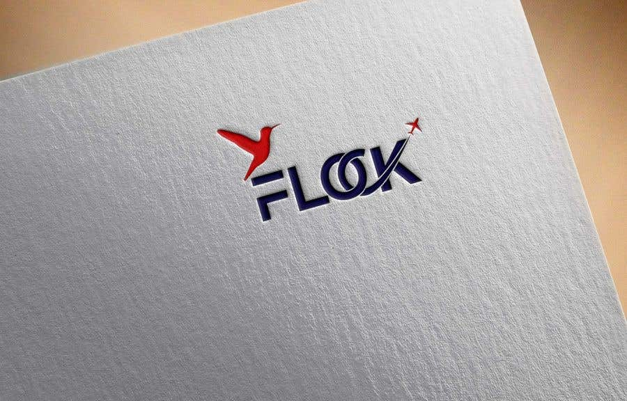 "Конкурсная заявка №                                        56                                      для                                         Logo for a travel app ""Flock"""