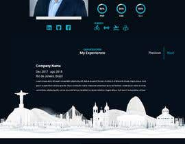 #27 for Build me the design of my personal 'Single Page Resume' website. by nikoladrazicc