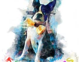 Jasmmin tarafından To create an image / design for a T-shirt based on a real dog picture. için no 63