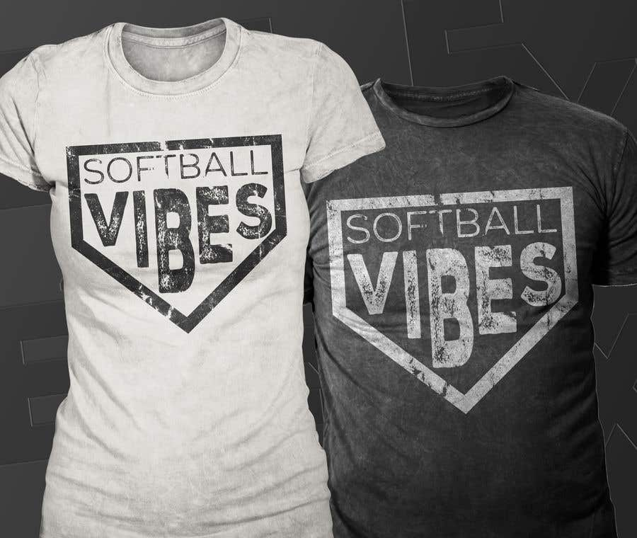 Конкурсная заявка №                                        46                                      для                                         Baseball/Softball Vibes T-shirt Design