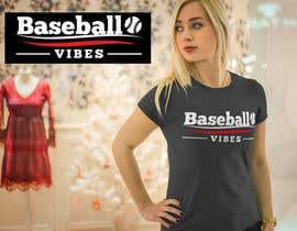 #36 для Baseball/Softball Vibes T-shirt Design от voltes098