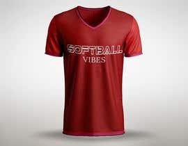 #53 для Baseball/Softball Vibes T-shirt Design от shaongraphics