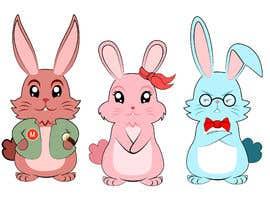 #19 untuk Draw three cartoon bunny characters in 2D as per the description provided oleh surajp0087