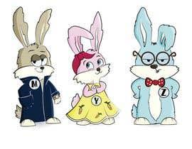 #6 untuk Draw three cartoon bunny characters in 2D as per the description provided oleh Izarti
