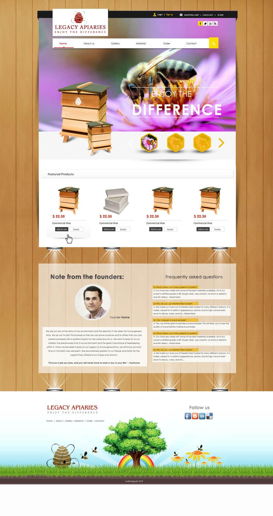 Konkurrenceindlæg #                                        10                                      for                                         Website Design for newly designed beehive eCommerce site