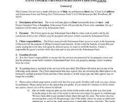 #25 untuk Make my contract look more professional and easy to edit oleh regzap