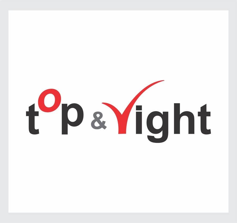 "Penyertaan Peraduan #                                        60                                      untuk                                         Design a Logo for ""Top & Right"""