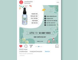Nro 53 kilpailuun Design me a single promotional flyers for my brand new hand sanitizer for Kids (Instagram post size) käyttäjältä Jiaulhuda