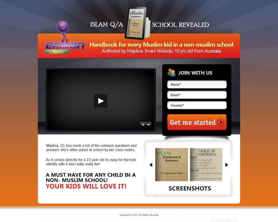 Kilpailutyö #                                        19                                      kilpailussa                                         Landing Page Design For EBook