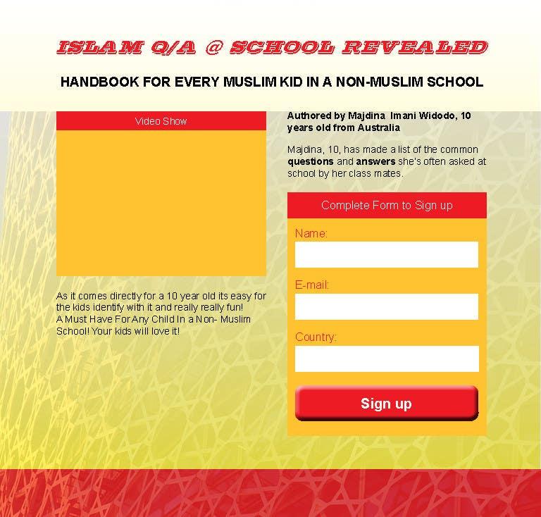 Kilpailutyö #                                        1                                      kilpailussa                                         Landing Page Design For EBook