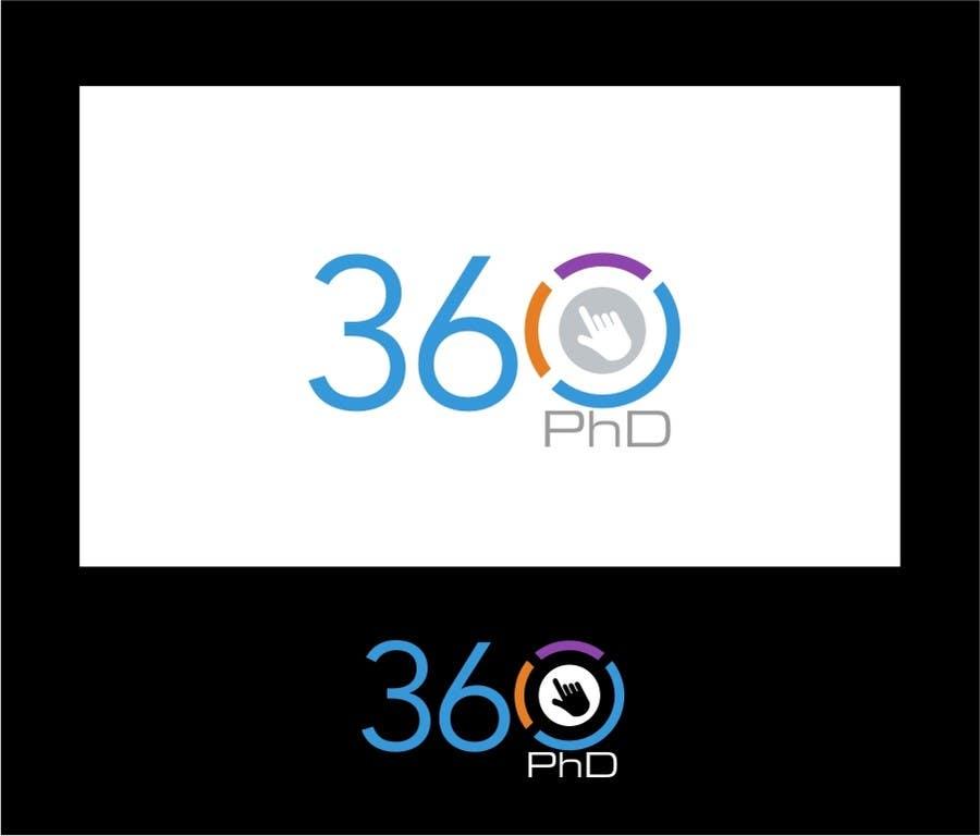 Kilpailutyö #55 kilpailussa Logo Design for 360 ph.d. application