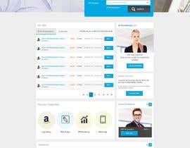 nº 28 pour Design a Job Board WordPress Themes mockup par nilsoft123