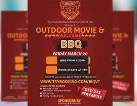 Creativetayef tarafından Flyer/Poster For School Movie Night and BBQ için no 22