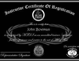 #18 untuk Make landscape style instructor certificate oleh abumuhammed4862