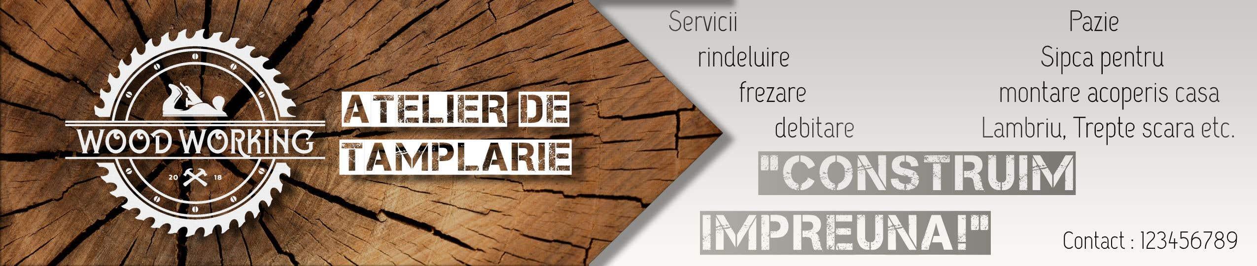 """Intrarea #                                        20                                      pentru concursul """"                                        Creare banner outdoor-  atelier tamplarie lemn                                     """""""
