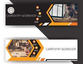 #26 pentru Creare banner outdoor-  atelier tamplarie lemn de către huzaifazubair77