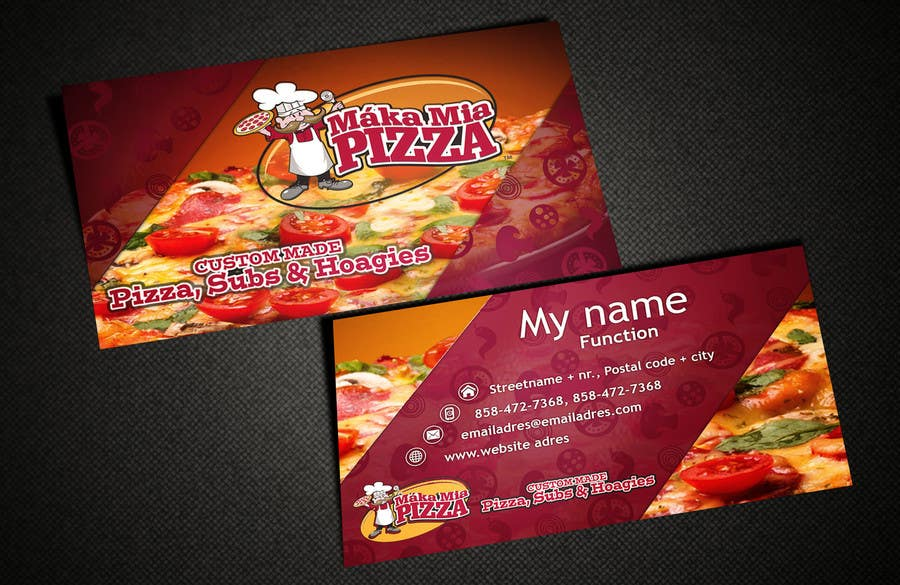 Entry #45 by AlexTV for Design some Business Cards for Pizza Company ...