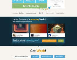 #586 for Freelancer.com contest! Design our Homepage! af dmoldesign