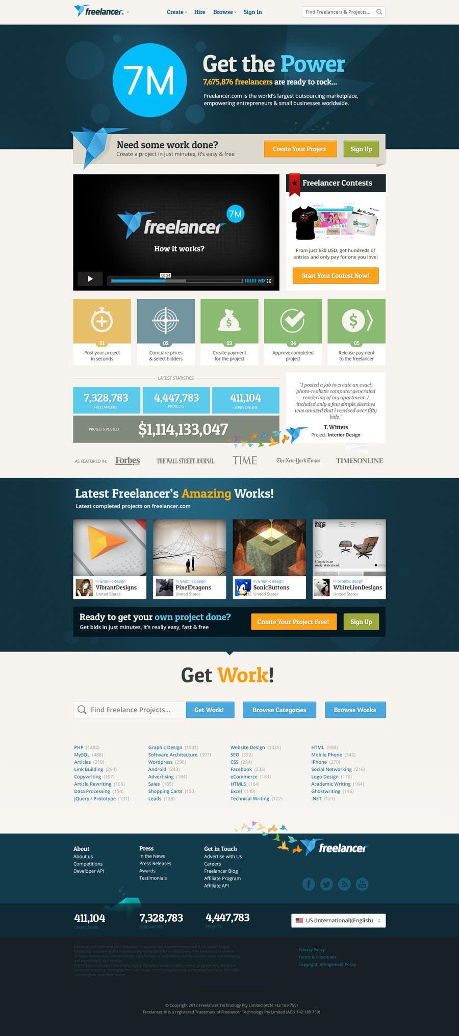 Entri Kontes #704 untukFreelancer.com contest! Design our Homepage!