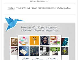 #707 para Freelancer.com contest! Design our Homepage! por gfxbucket