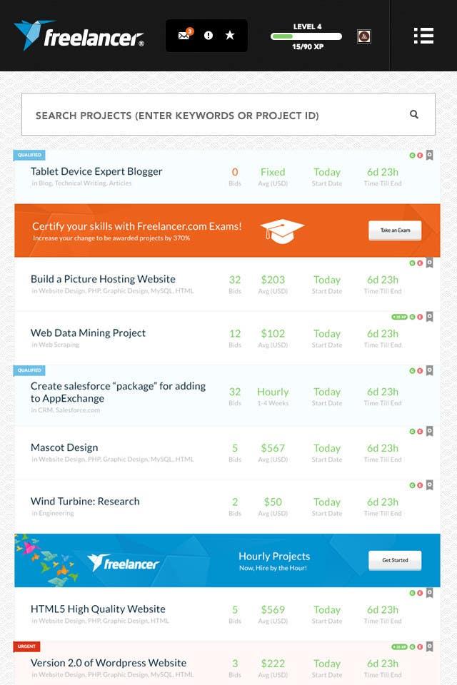 Bài tham dự cuộc thi #                                        27                                      cho                                         Freelancer.com contest! Design our Browse Jobs Page!