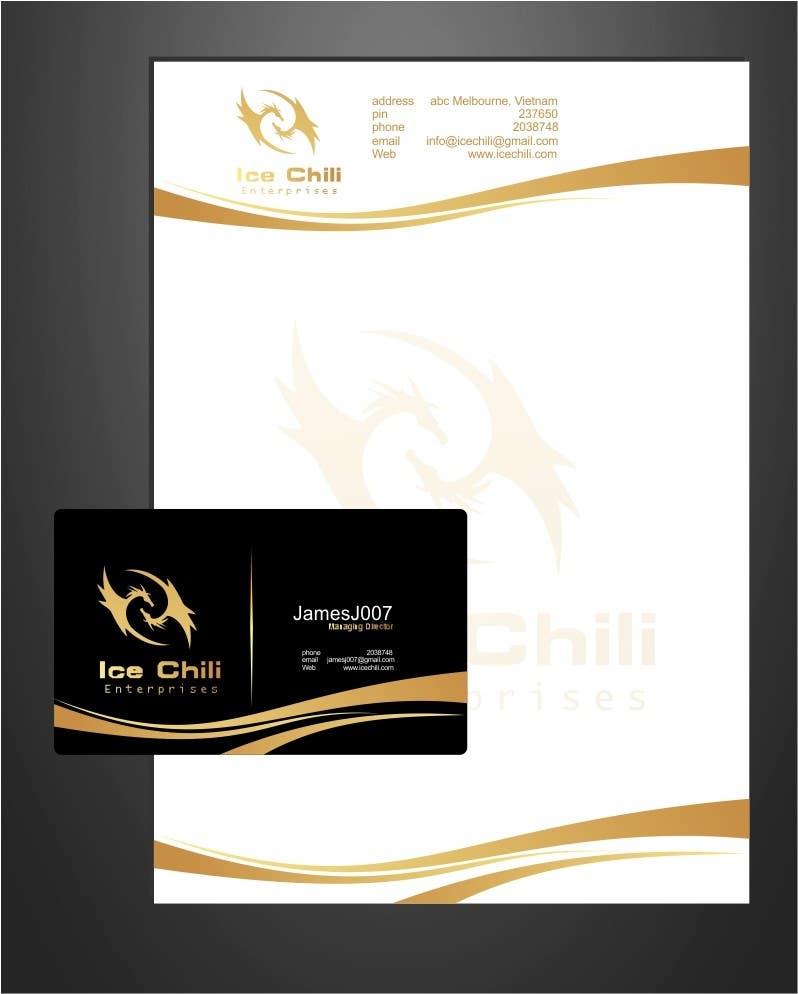 Kilpailutyö #                                        30                                      kilpailussa                                         Logo Design, Letterhead & Business Card for Ice Chili Enterprises