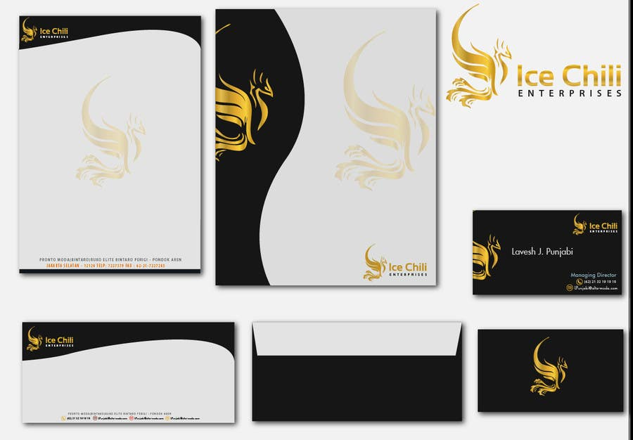 Penyertaan Peraduan #51 untuk Logo Design, Letterhead & Business Card for Ice Chili Enterprises