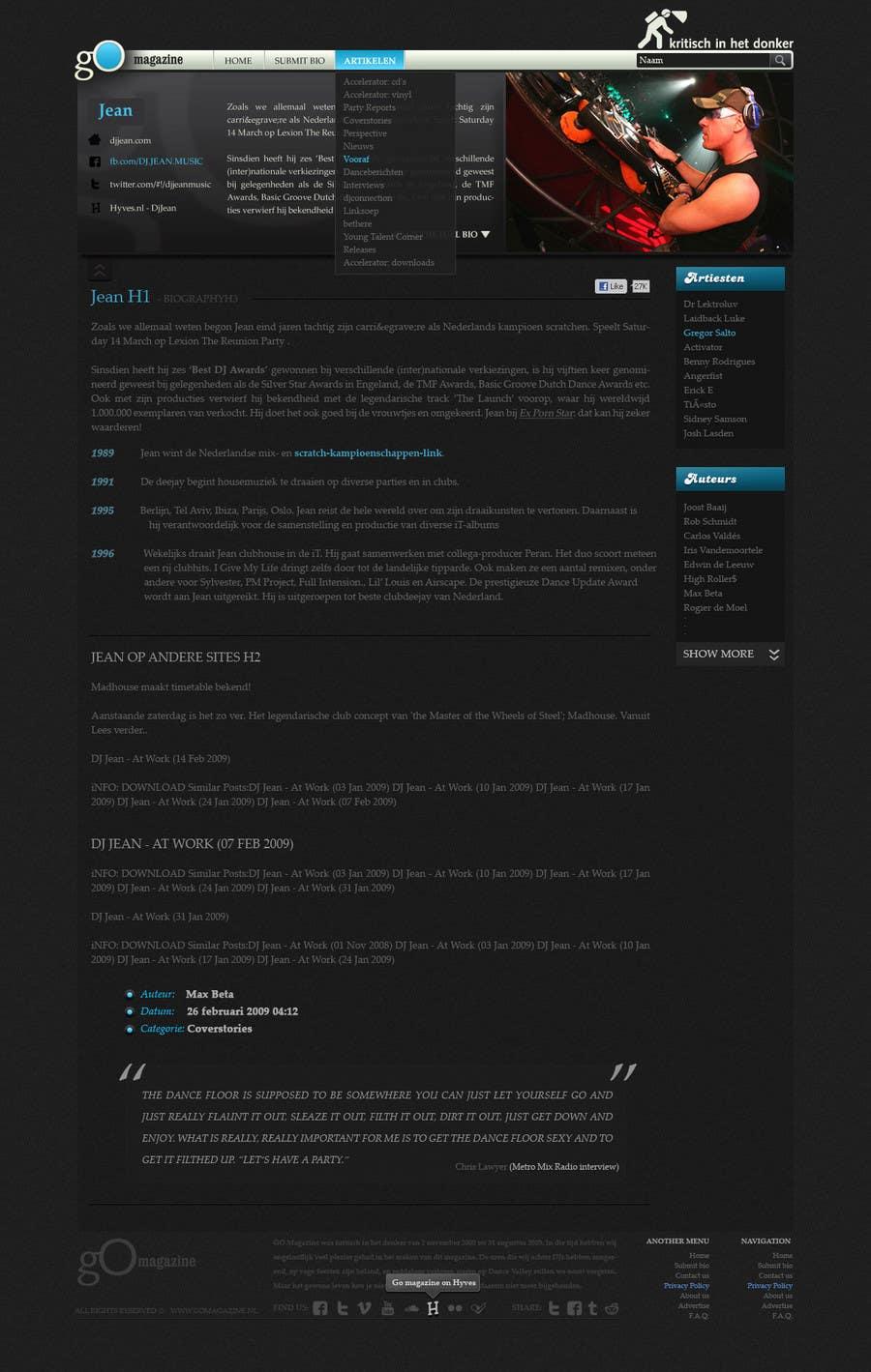Entri Kontes #                                        23                                      untuk                                        Website Design for GO Magazine