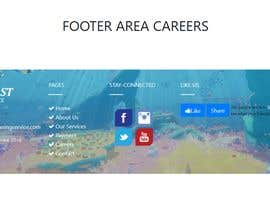 #33 for Need unique footer design for our careers page by sk01741740555