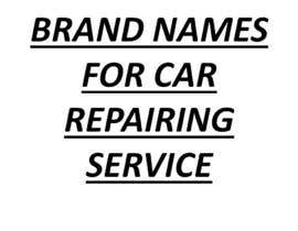 #158 для Research a Brand Name for a New Car Repair Service Company от iqbalamna367