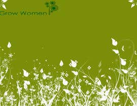 nº 4 pour Twitter Background Design for GrowWomen.com par vladutpeicu