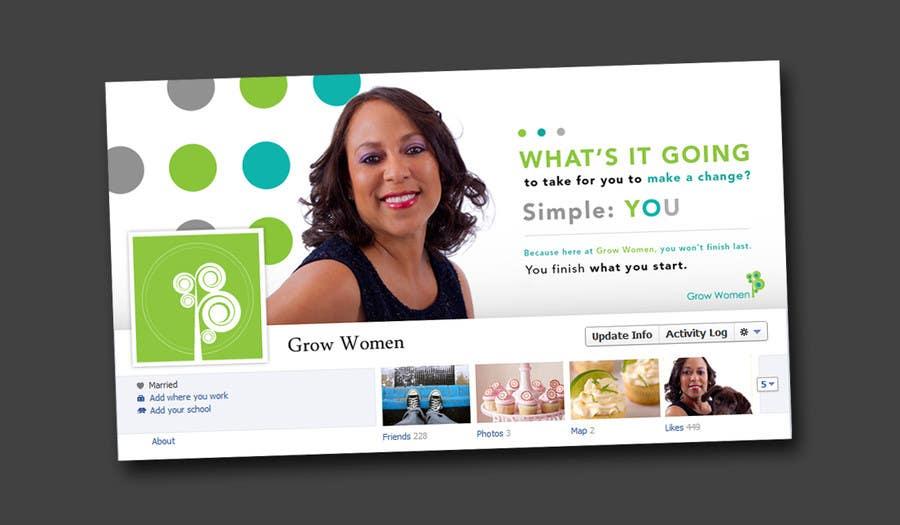 Bài tham dự cuộc thi #                                        6                                      cho                                         Graphic Design for GrowWomen.com Facebook Cover