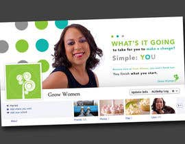 #6 untuk Graphic Design for GrowWomen.com Facebook Cover oleh Decafe