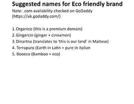 #154 for Need a name for Eco friendly brand by LoredanaF