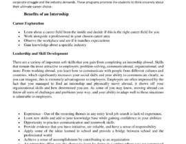 #42 для Content Articles - Importance of Internships on your career от damiandan4