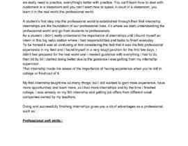 #43 для Content Articles - Importance of Internships on your career от jadevongoethe