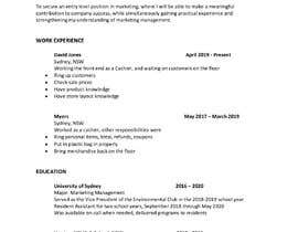 #23 для Resume Template in words. format от Jsprw23