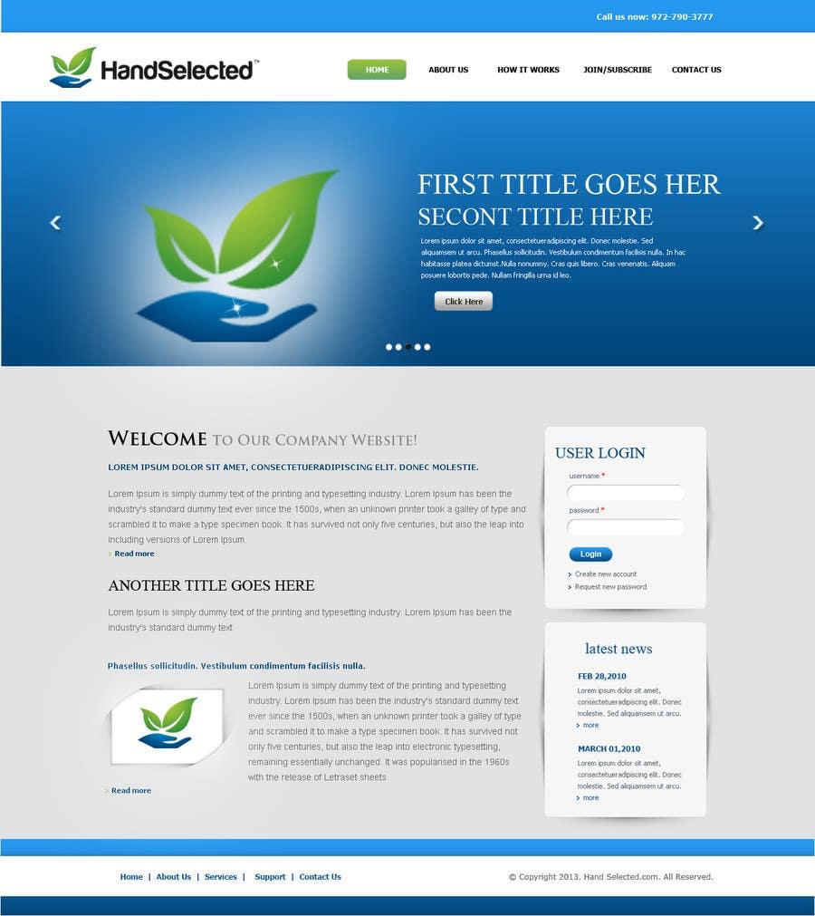 Inscrição nº                                         12                                      do Concurso para                                         Website Design for HandSelected