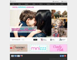 minimani tarafından Home Page for Childrens Clothing Brand - PSD artwork only için no 27