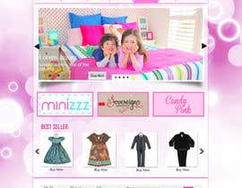 peaceonweb tarafından Home Page for Childrens Clothing Brand - PSD artwork only için no 16