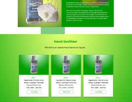 #57 for Design a website for a cosmetics brand selling hand sanitizer and masks by liakutalikhan