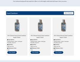 #22 for Design a website for a cosmetics brand selling hand sanitizer and masks by mostakimislam19